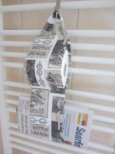 Handmade WC Rollenhalter Toilettenpapierhalter Zeitschriften