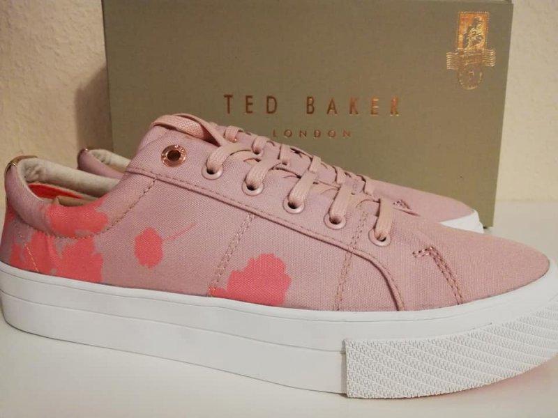 TED BAKER DAMEN SNEAKER ROSE PINK CANVAS