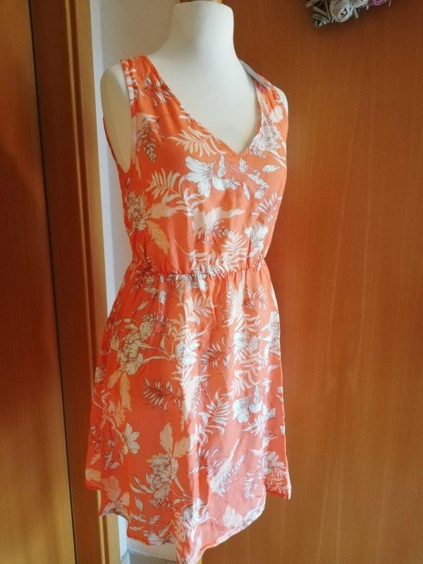TAMARIS Kleid Sommerkleid A Sharpe Viskose  Koralle Floral